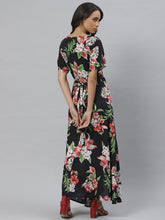 Load image into Gallery viewer, Vemante Wrap on printed dress