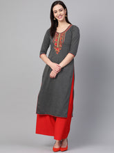 Load image into Gallery viewer, Saadgi Embroidered Fleece Winter Kurta