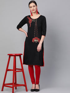 Saadgi Embroidered Fleece Winter Kurta