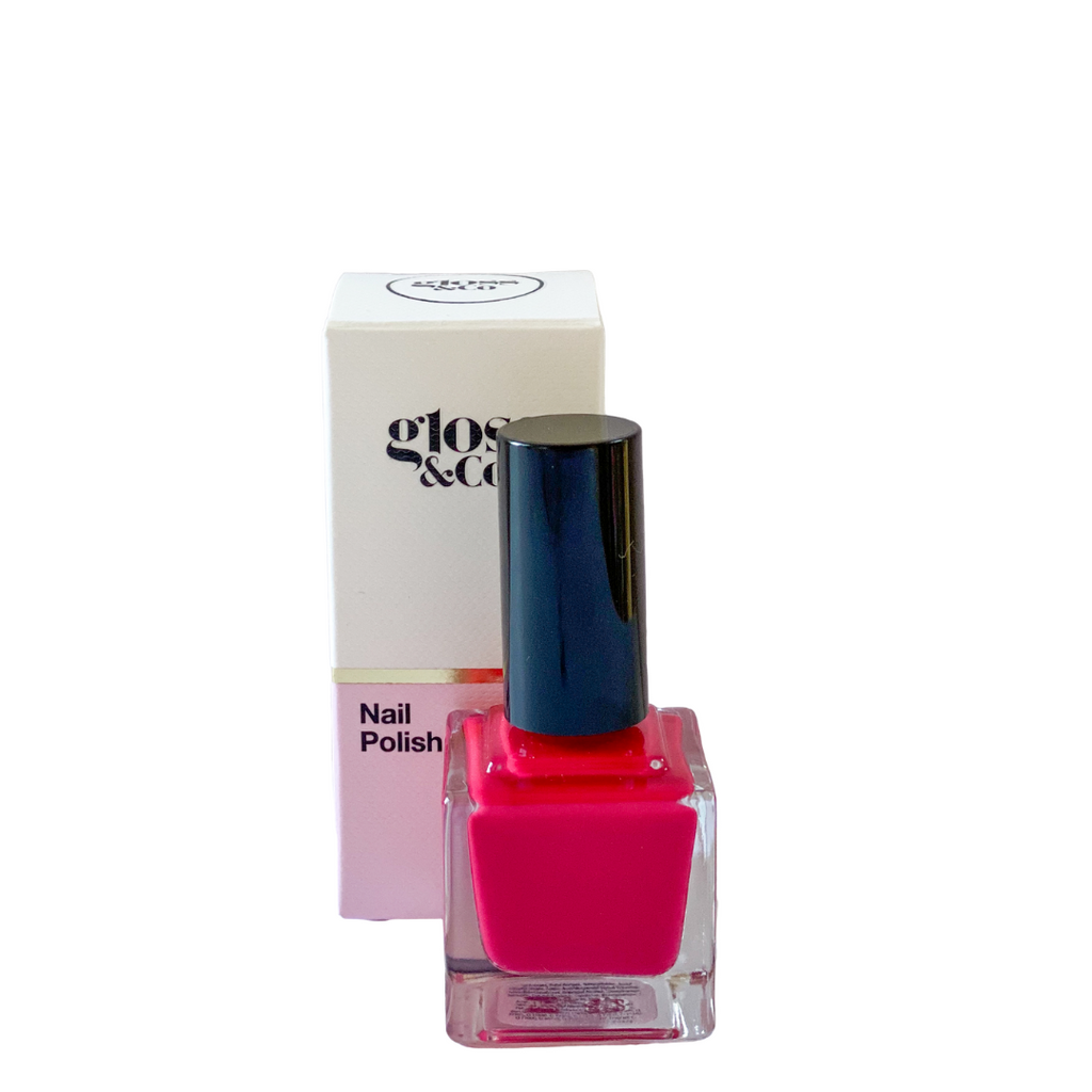 A vibrant nail polish from Gloss and Co that is good for your nails and the environment! Toxin free, vegan, long lasting, cruelty free, amazing colours and Australian made!