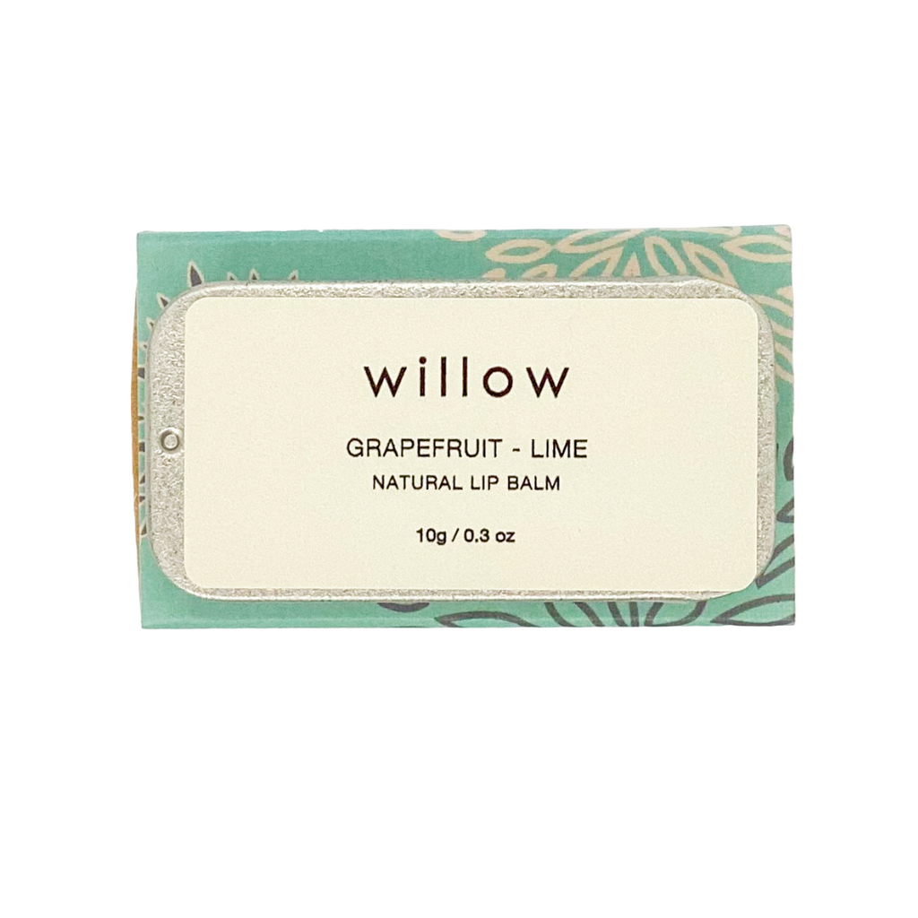 Grapefruit and Lime Natural Lip Balm by Willow Tree Skincare