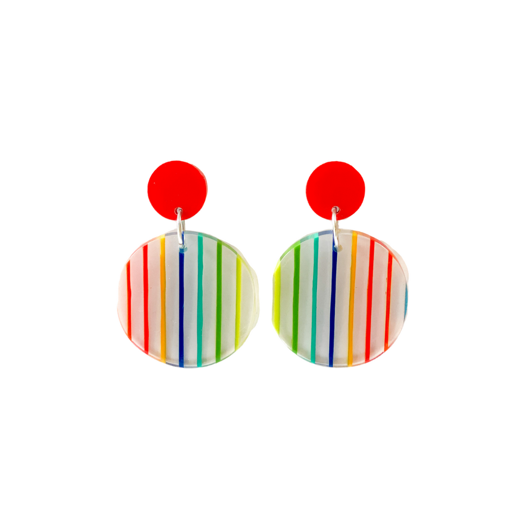Ruby Olive's Rainbow Bright earrings.