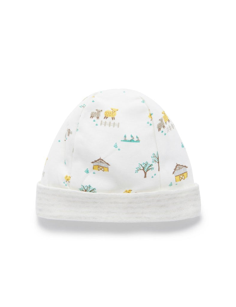 Farmyard beanie by Pure Baby
