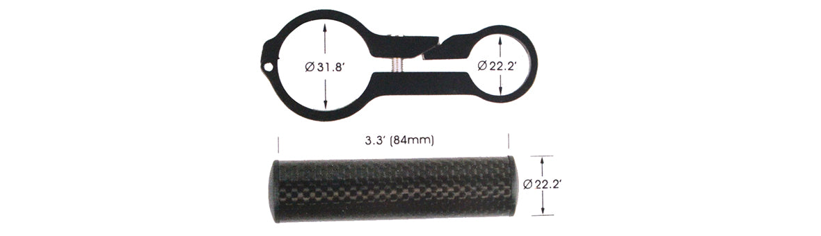 Cycling Bike Carbon Handlebar Holder Extender CHE100 Parameter 2