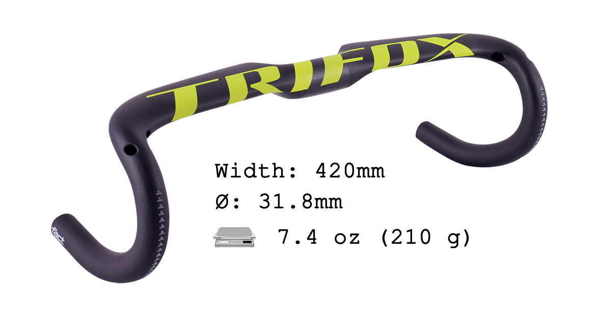 Road Bike Carbon Fiber Drop Bar DHB300 Parameter