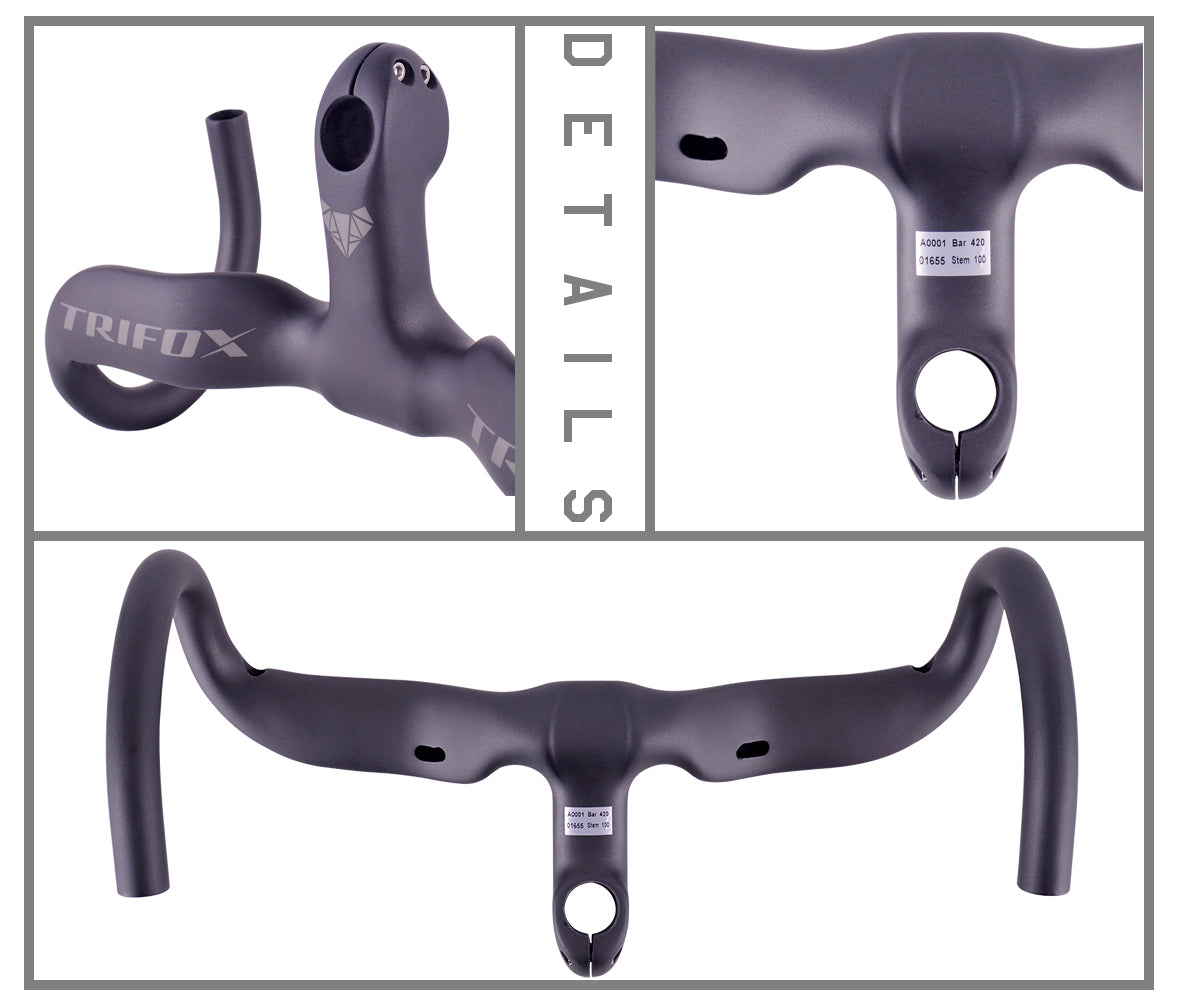 Carbon Fiber  Road Bike Drop Handlebar with Stem DHB100 Details