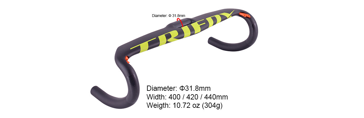 Trifox Carbon Road Bike Drop Bar DHB700 Parameter