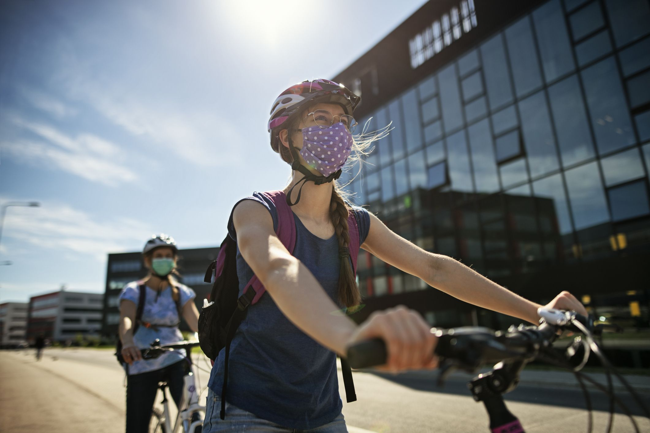 Let's ride a bike to fight the epidemic