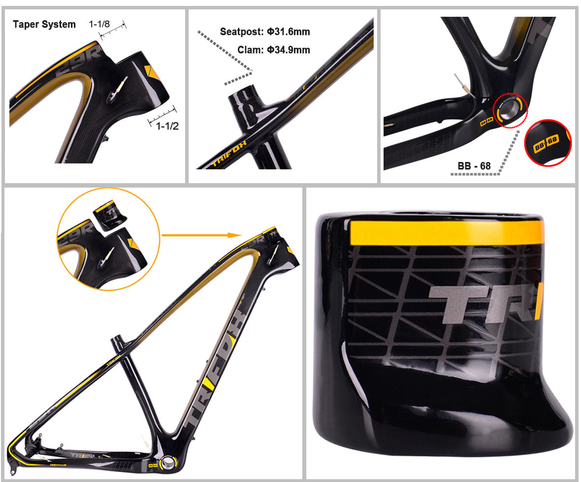 MFT200 Carbon Fiber Moutain Bike Hard Trail Frame Details 01