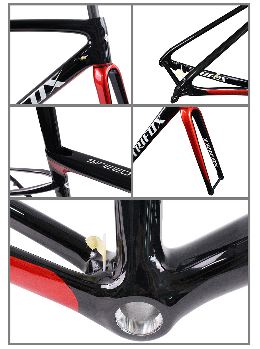 Trifox Carbon Road Bike Frameset X16 Thru Axle Version Details