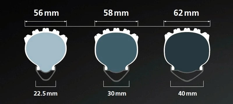 Tire width and teeth of mountain bike tires 3