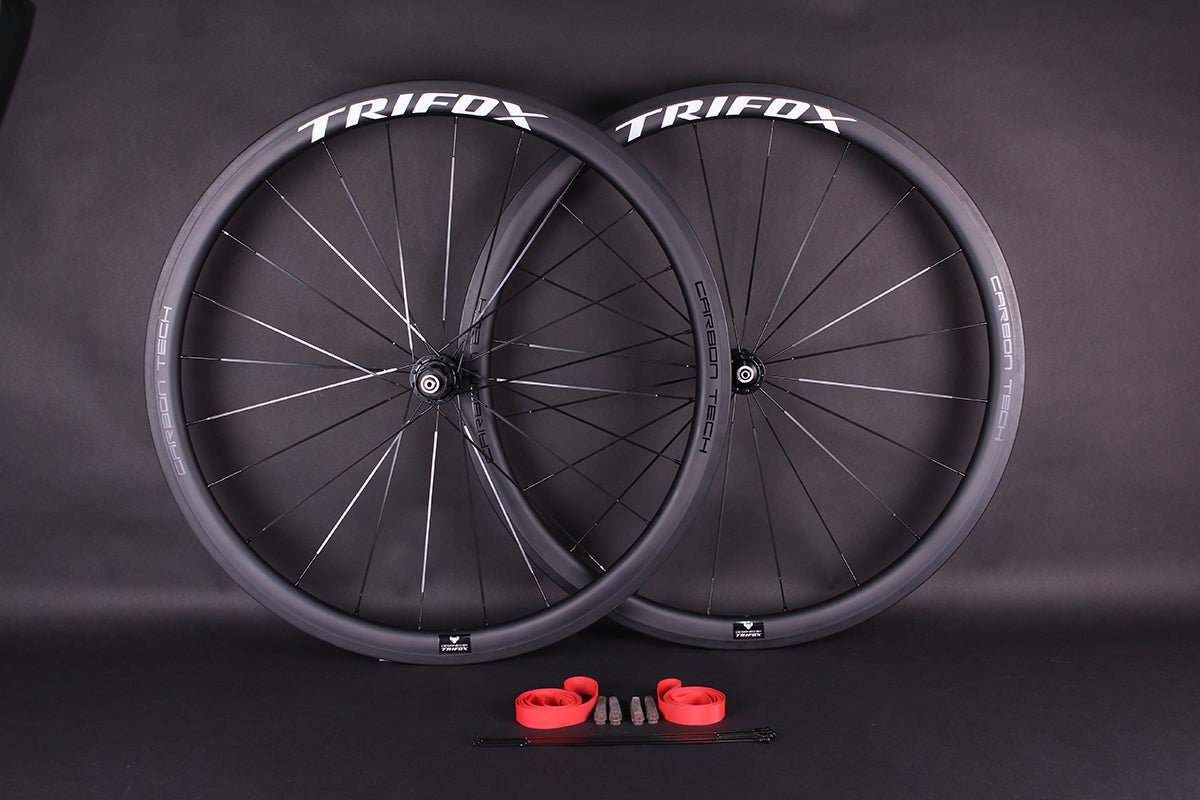 Trifox Carbon Fiber Road Bike Wheelset