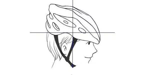 The wrong way of wearing a helmet