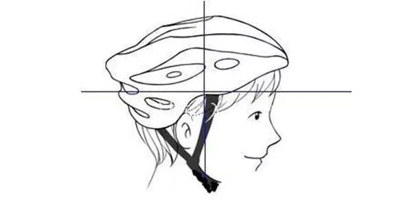 The wrong way of wearing a helmet 2