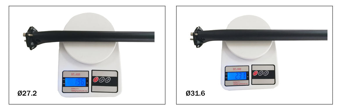 Carbon Lay back MTB Seatpost CDS100 Weight