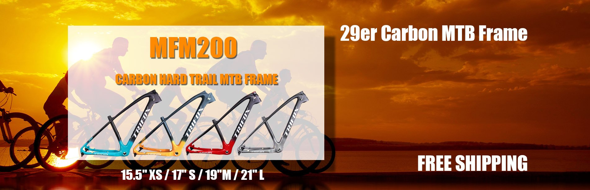 MFM200 Carbon Hard Trail MTB Frame