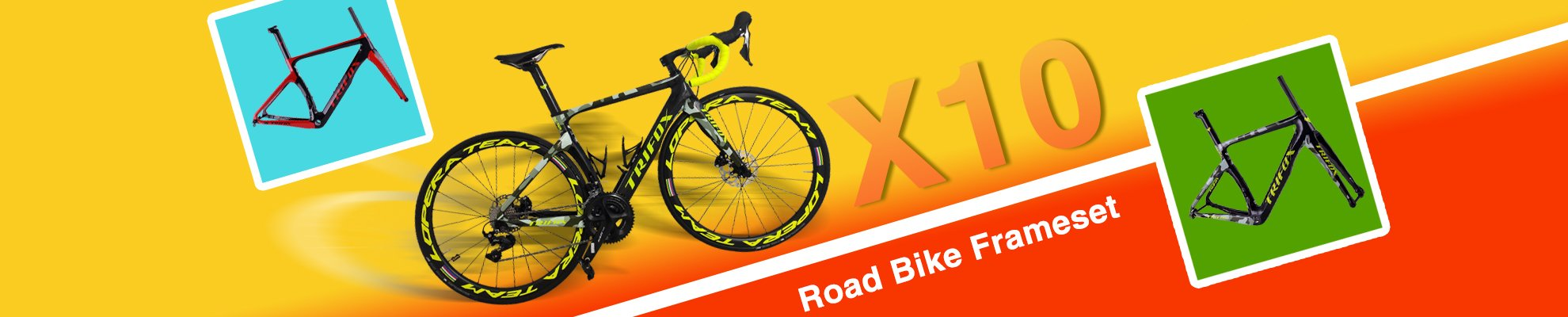 Trifox Full Carbon Road Bike Frameset X10