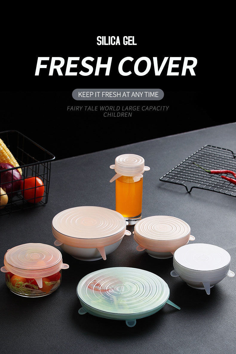 Magic Lids ™ Reusable Stretch Lids (6 pieces)