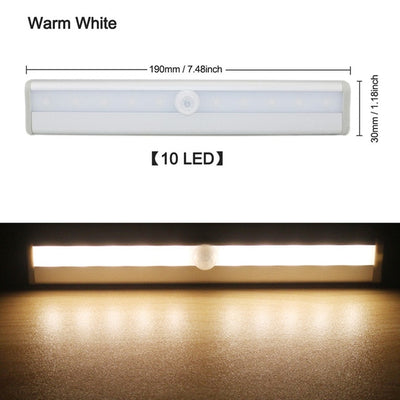 NATUREKNACK™ Wireless LED Under Cabinet Light PIR Motion Sensor Lamp