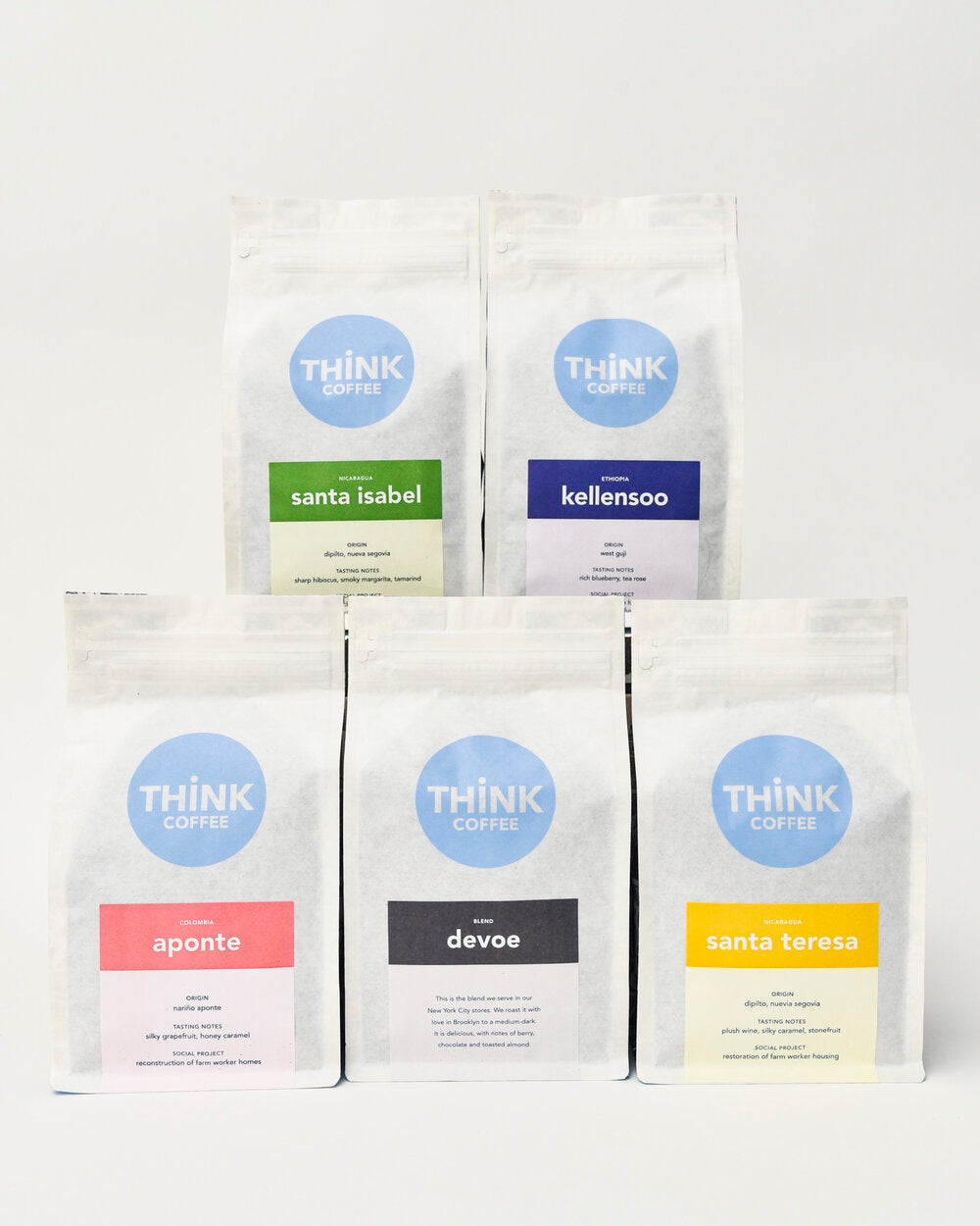 Think Coffee bags from monthly subscription