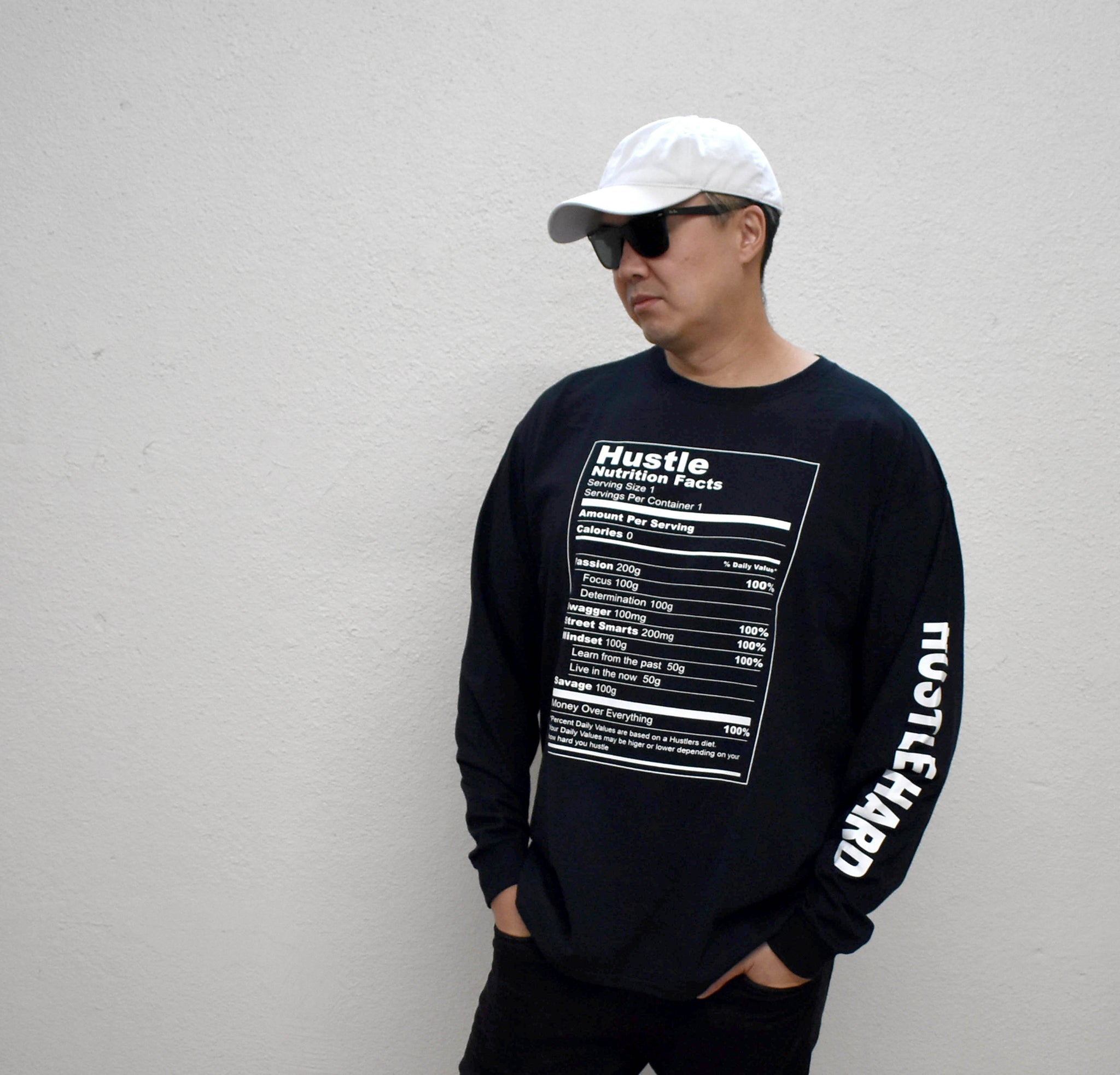 Hustle Ingredients Graphic Long Sleeve Shirt - Hype Means Nothing