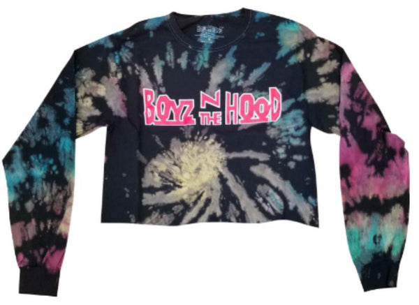 Boyz n the Hood Tie Dye Long Sleeve Crop T-Shirt - Hype Means Nothing