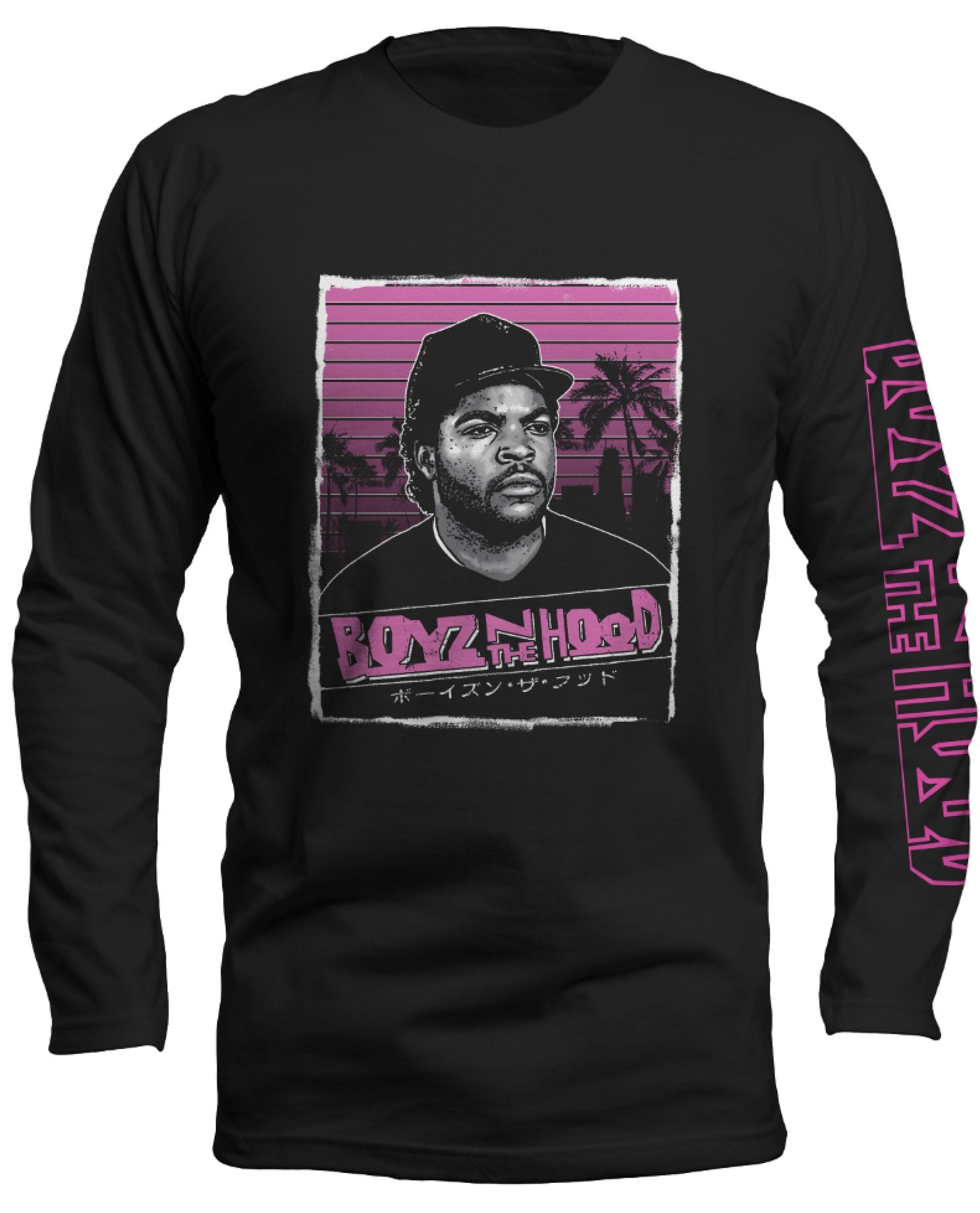 Boyz n the Hood Pink Graphic Long Sleeve Shirt - Hype Means Nothing