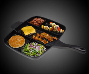 Tb4U Non-Stick Divided Grill Pan Household