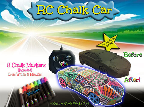 [Deal] RC Chalk Car plus 8 Washable Chalk Markers