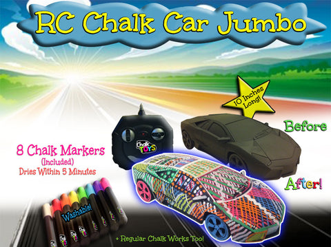 [Special Price] RC Chalk Car plus 8 Washable Chalk Markers