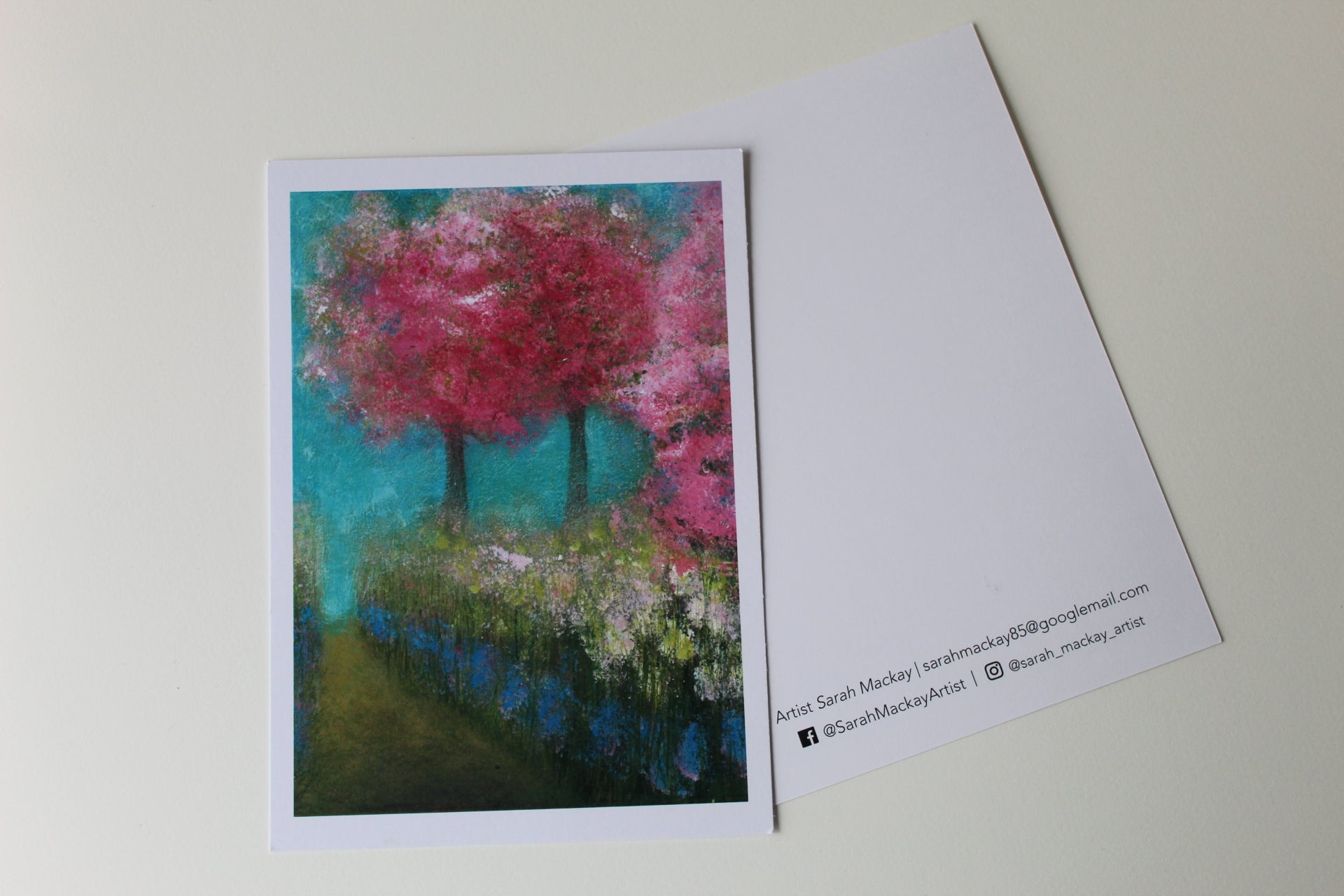 Under the Cherry Blossom - Postcard