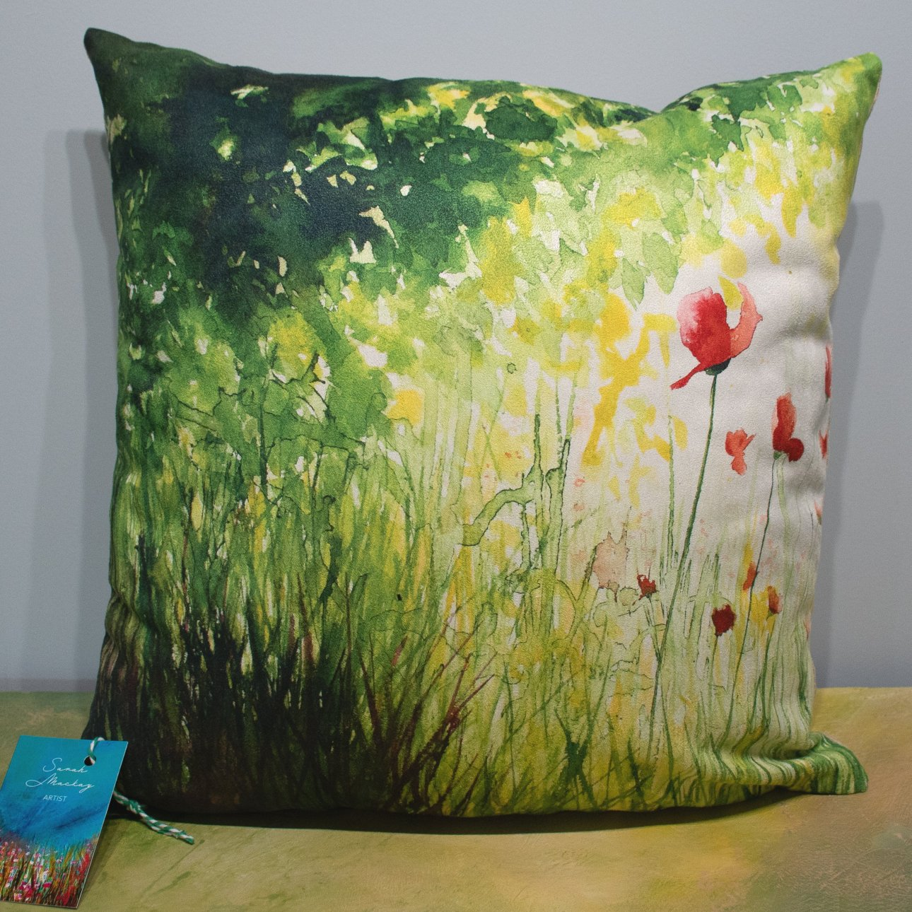 'Summer Poppies' Cushion