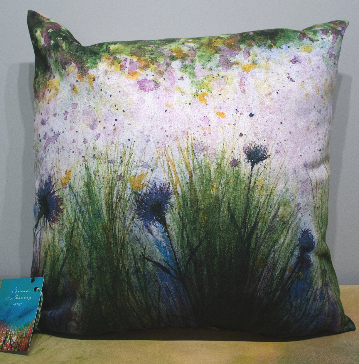 'Deep Dark Blues' Cushion
