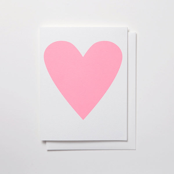 Baby Pink Heart Greeting Card