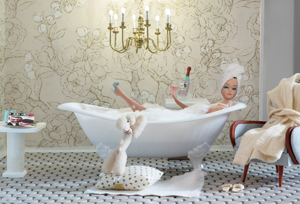 Bath Time Girl Barbie Photograph