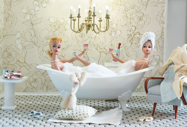 Bath Time Girls Barbie Photograph