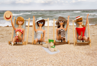 Beach Chair Girls Barbie Photograph