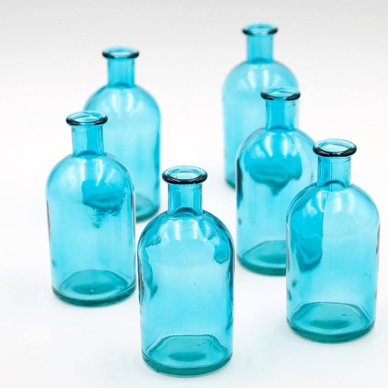 Blue Glass Bud Vase