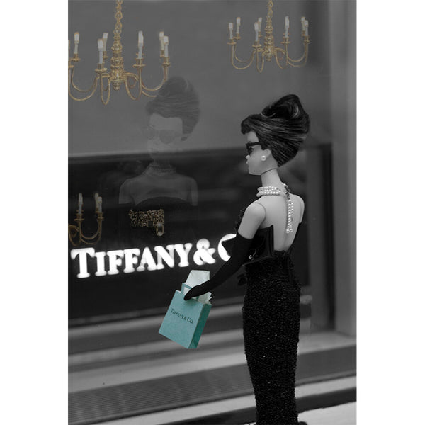 Breakfast at Tiffany's Vertical Barbie Photograph