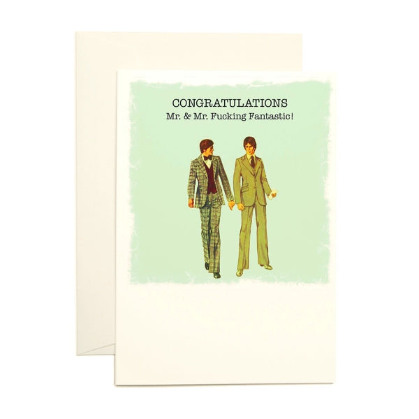 Congrats Mr. & Mr. Greeting Card