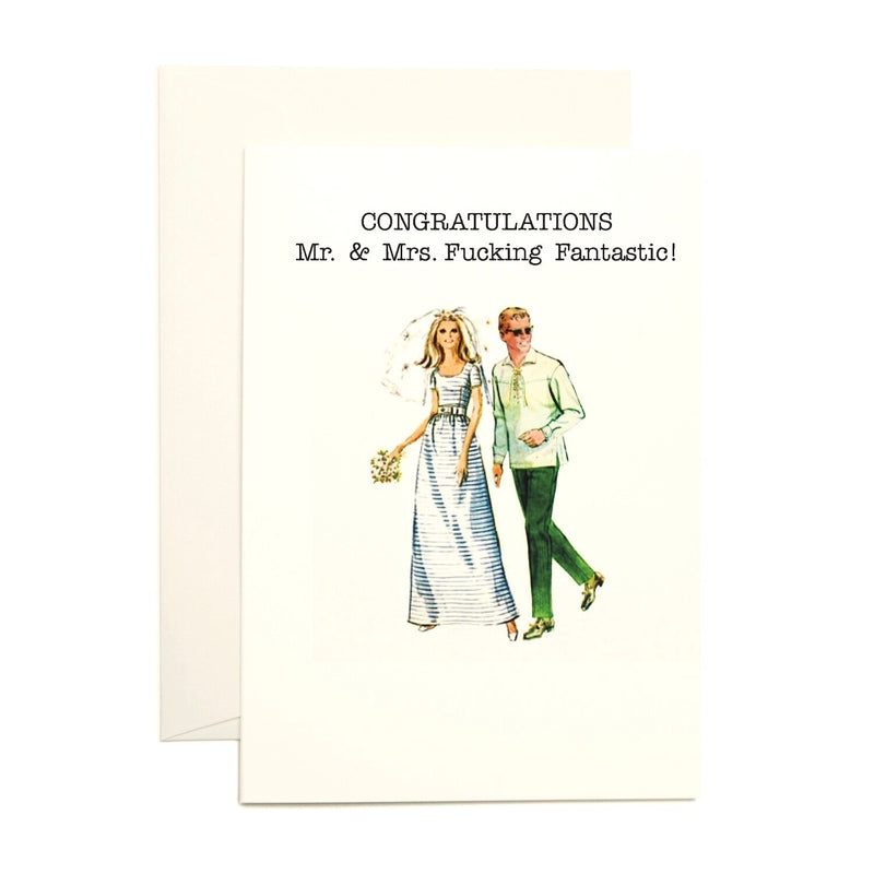 Congrats Mr. & Mrs. Greeting Card