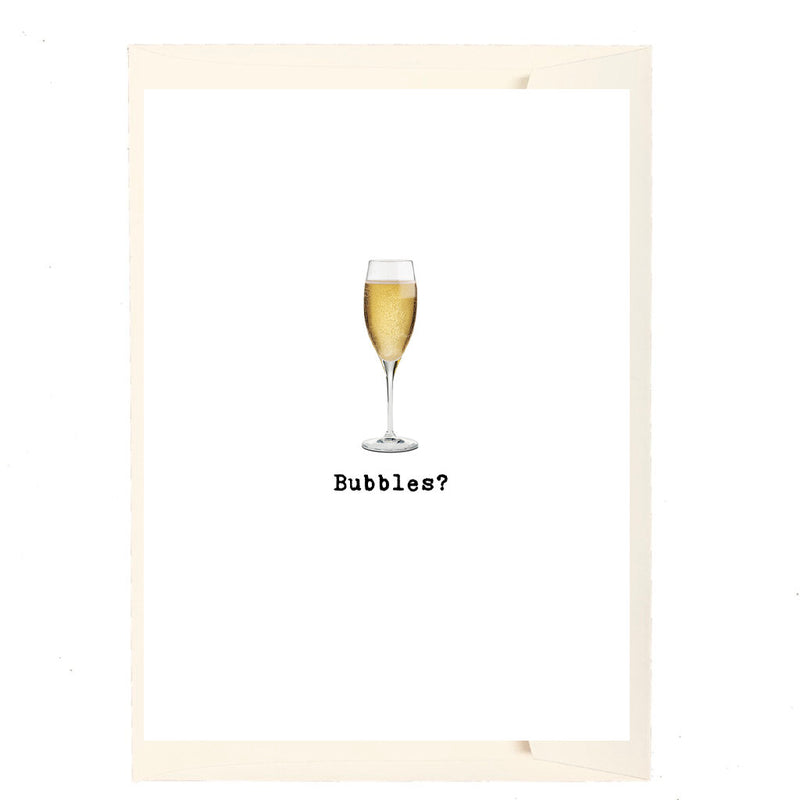 Bubbles? Greeting Card