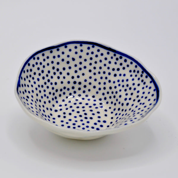 Blue Dot Medium Bowl