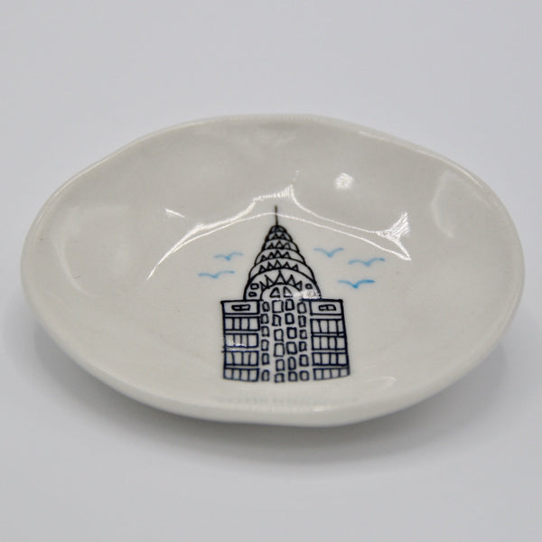Chrysler Building Cake Plate