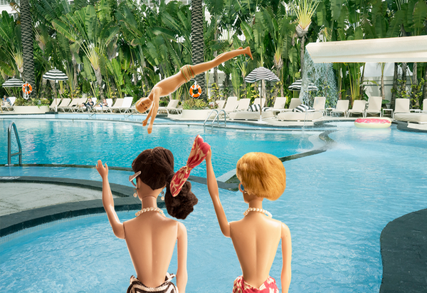Diving at The Raleigh Barbie Photograph