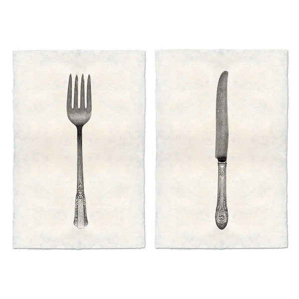 Framed Fork & Knife Set