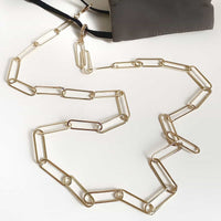 Gold XL Paperclip Mask Chain