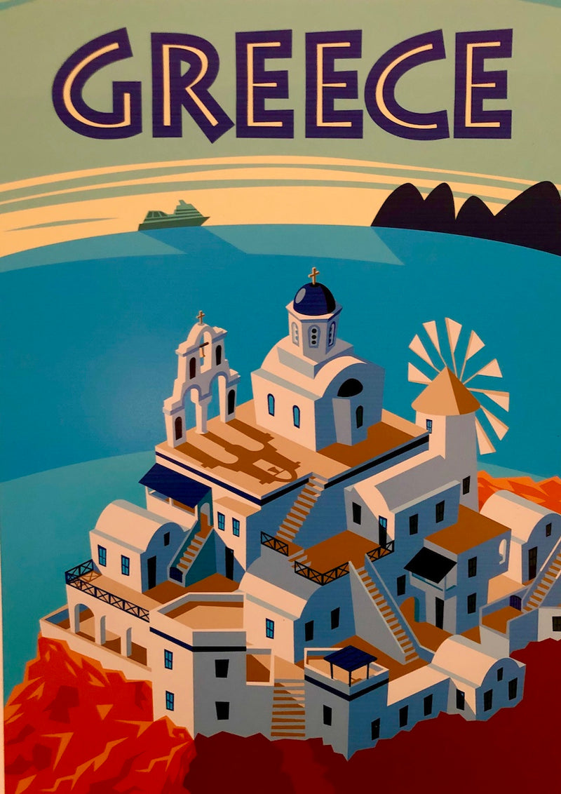 Greece Travel Print
