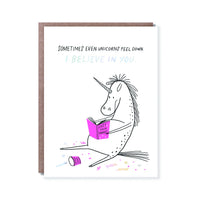 Believe in You Unicorn Greeting Card
