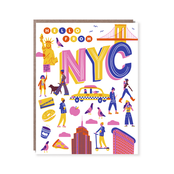 Hello from NYC Greeting Card